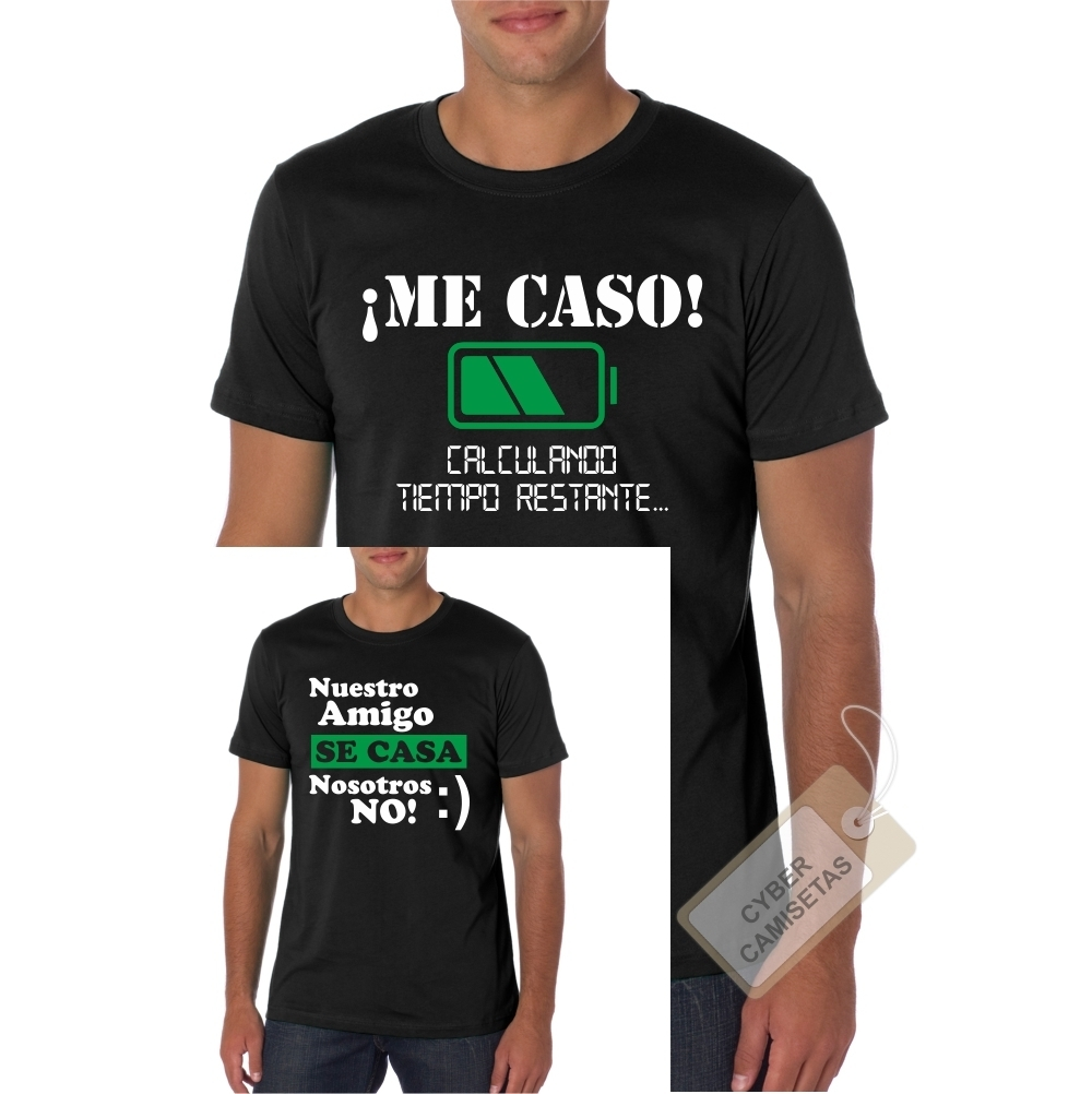 b57b5e940 Camiseta Despedida de Soltero Me Caso - CyberCamisetas.com
