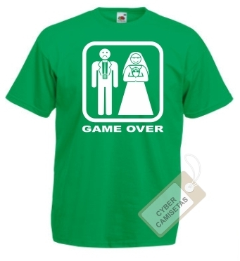 Camiseta Despedida de Soltero Game Over