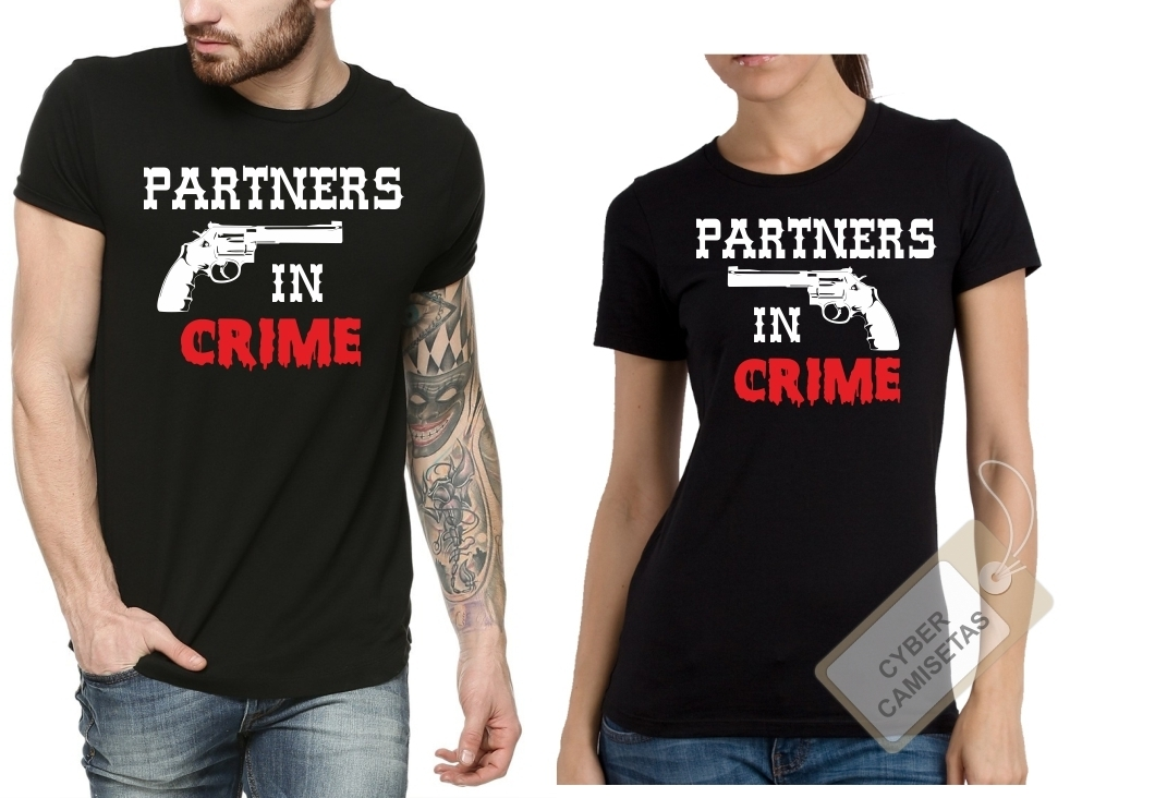 Camisetas Pareja Partners In Crime