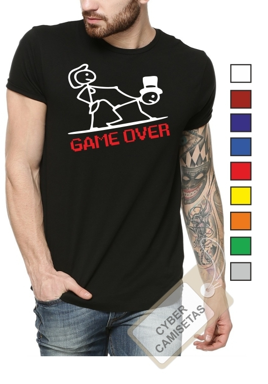 Camiseta Despedida de Soltero Game Over Modelo 2