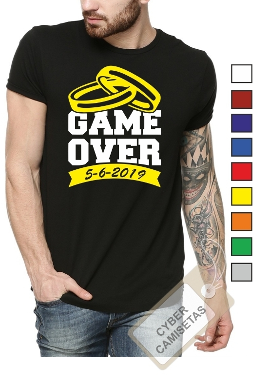 Camiseta Despedida de Soltero Game Over Anillos