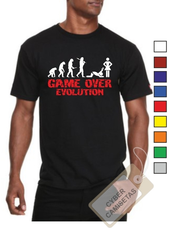 Camiseta Despedida de Soltero Game Over Evolution