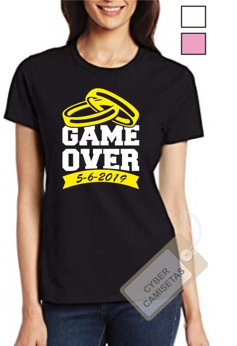 Camiseta Despedida de Soltera Game Over Anillos